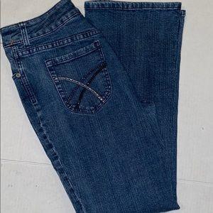 Chico's Platinum Jeans Chico's 0, Flare Bottom